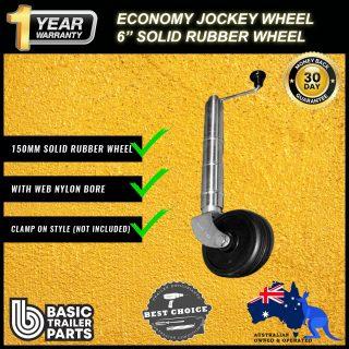 2021 Economic Jockey Wheel 6″ inch Solid Rubber Nylon Bore No Clamp 500kg Rated