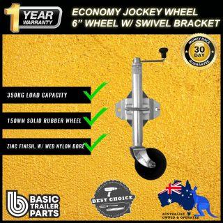 2021 Strong Economic Jockey Wheel 6″ inch Welded Pin Locking Swivel brckt 350kg