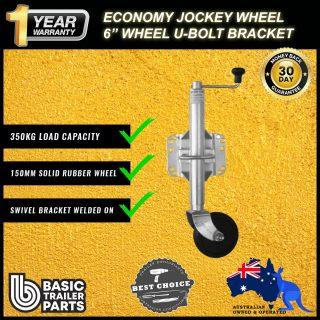2021 Strong Economic Jockey Wheel 6″ inch Fixing with U-Bolt Swivel brkt 350kg