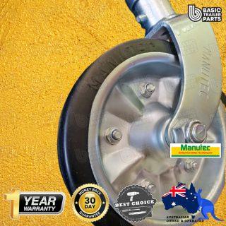 2021 Extra Height Jockey Wheel 8″ Rubber Zinc Plated Steel Center No Clamp 700kg