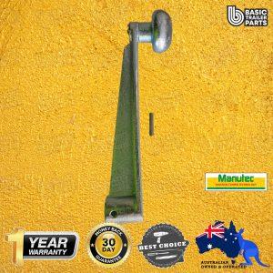 Manutec Jockey Wheel Handle Roll Pin type, Heavy Duty, extra long Trailer Caravan Part