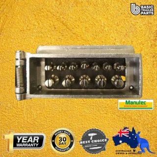 Manutec 12 PIN FLAT METAL TRAILER PLUG Caravan Spare Part