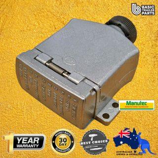 Manutec 12 PIN FLAT METAL TRAILER Trailer Socket Caravan Spare Part