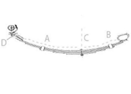 6 Leaf Roller Rocker Spring – Galv. (rear)