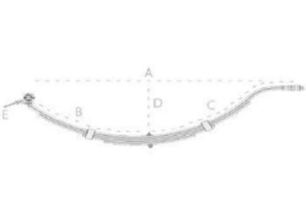 Slipper Springs 6 Leaf Slipper Spring – 45mm wide – 8mm thick – Painted Trailer