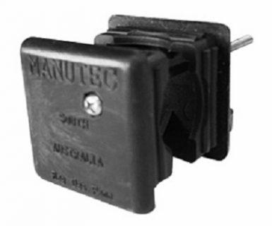Manutec Adjustable Stand Plastic End Caps (2) 50mm Sq. for ALQR Trailer Caravan