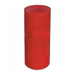 Poly Boat Roller 4 1/2 inch Flat (Parallel) Roller, Red Poly, 17mm plain bore