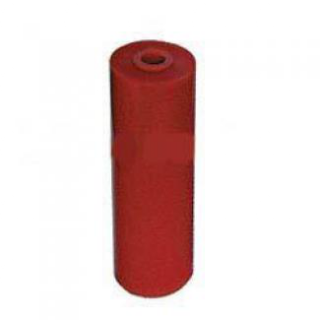 Poly Boat Roller 6 inch Flat (Parallel) Roller, Red Poly, 17mm plain bore Parts