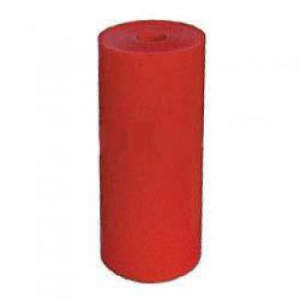 Poly Boat Roller 8 inch Flat (Parallel) Roller, Red Poly, 21mm plain bore Parts