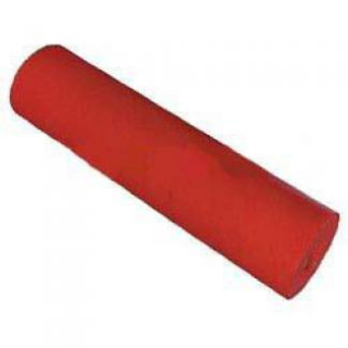 Poly Boat Roller 12 inch Flat (Parallel) Roller, Red Poly, 25mm plain bore Parts