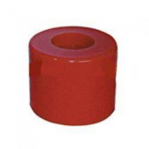 Poly Boat Roller 2 1/2 inch Round Roller, Red Poly, 17mm plain bore Trailer Part