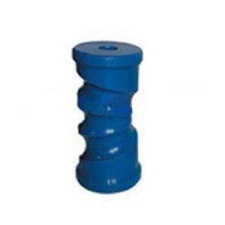 Poly Boat Roller 6 inch Self Centering Roller, Blue, 17mm plain bore Trailer