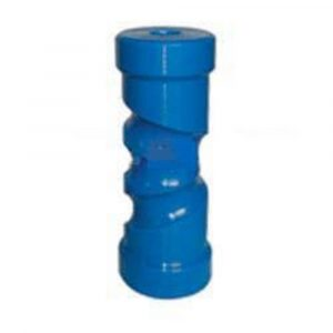 Poly Boat Roller 8 inch Self Centering Roller, Blue, 17mm plain bore Trailer