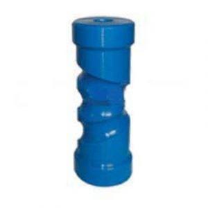 Poly Boat Roller 8 inch Self Centering Roller, Blue, 21mm plain bore Trailer