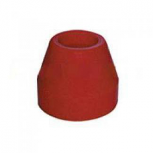 Poly Boat Roller 2 1/2 inch Tapered Roller, Red Poly, 17mm plain bore Trailer