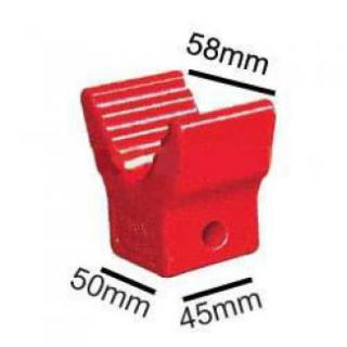 Soft Poly Boat Roller 2 inch V Block, Red Poly, 12mm plain bore Trailer Caravan