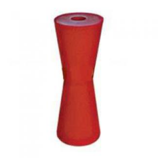 Poly Boat Roller 8 inch Concave – Vee Roller, Red Poly, 21mm plain bore Trailer
