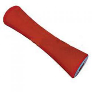 Poly Boat Roller 12 inch Concave – Vee Roller, Red Poly, 17mm plain bore Trailer
