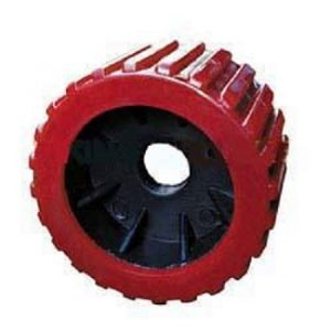 Manutec Boat Roller 3″ X 4″ Wobble, Poly, Red, 20mm bore Trailer Caravan Spare Part