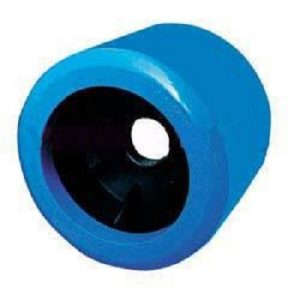 Boat Roller 4″ x 3.5″ Smooth Wobble, Poly, Blue, 26mm bore Trailer Caravan Part