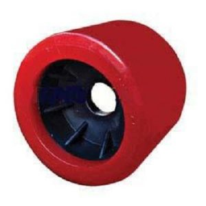 Boat Roller 4″ x 3.5″ Smooth Wobble, Poly, Red, 20mm bore Trailer Caravan Part
