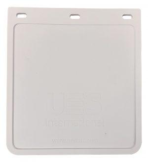 UES MUDFLAP – WHITE – 250 X 230 – UV STABILISED FLEXIBLE PVC