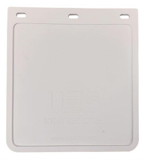MUDFLAP - WHITE - 250 X 230 - UV STABILISED FLEXIBLE PVC