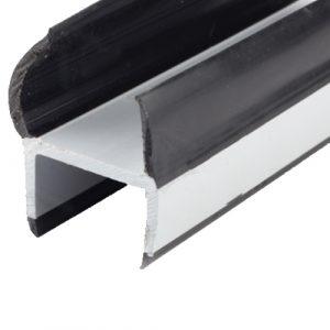 UES DUROMETER 'J' SEAL 25mm BLACK/GREY 3M LENGTH