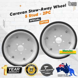 2x Manutec UHD Trailer Carastow Caravan Stowaway Wheel Storage 5 Stud Suits HT/FORD