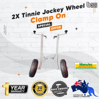 2X Manutec Tinnie Jockey Wheel Clamp on Trailer Caravan Spare Part