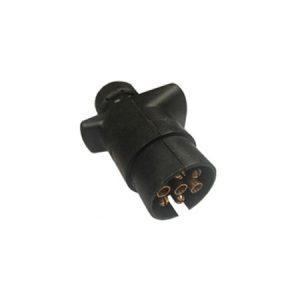 Manutec 7 PIN SMALL ROUND MALE TRAILER PLUG – 20PK Caravan Spare Part