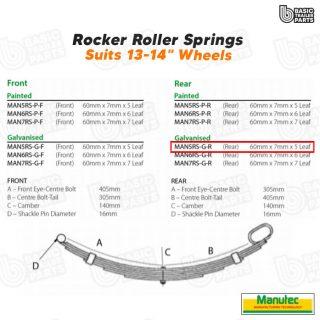 Rocker Roller Springs 5 Leaf Roller Rocker Spring Rear – Galvanised Trailer Part