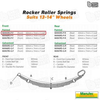 Rocker Roller Springs 5 Leaf Roller Rocker Spring – Painted (Front) Trailer Part