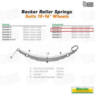 Manutec 6 Leaf Roller Rocker Spring – Galv. Trailer Caravan Spare Part