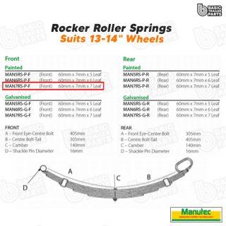 Rocker Roller Springs 7 Leaf Roller Rocker Spring – Painted (Front) Trailer Part