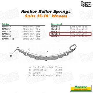 Manutec 8 Leaf Roller RockerSpring – Galvanised Trailer Caravan Spare Part