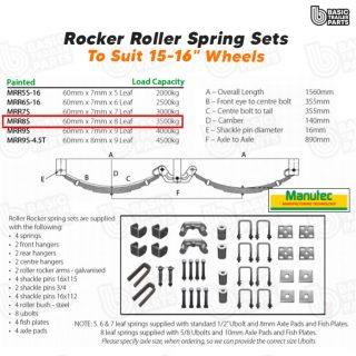 Rocker Roller Spring Sets Roller Rocker Spring Set – 60mmx7mmx8 Leaf. Trailer