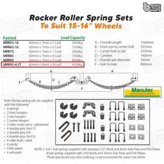 Rocker Roller Spring Sets Roller Rocker Spring Set – 60mmx8mmx9 Leaf. Trailer