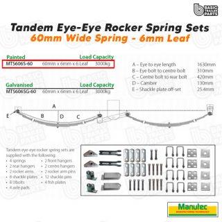 EYE-EYE Rocker Spring Set – 6 Leaf – Painted 3000kg per set Trailer Caravan Part