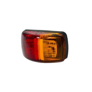 Manutec SIDE MARKER LAMP – Red/Amber 9-33V 0.5m Cable Trailer Caravan Spare Part