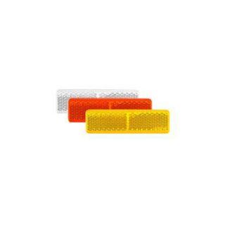 Manutec Amber Reflector Welded White – Self Adhesive 70x20x7.5mm Trailer Caravan