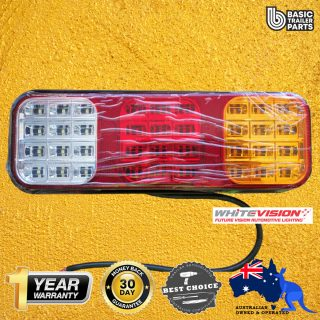 WV LED Lamp, Stop/Tail/Ind/Reverse/Reflex Reflector 9-33V 0.5m Cable Trailers