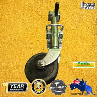 2021 Standard Jockey Wheel 6″ Side Wind Welded Pin Locking Swivel Bracket 500kg